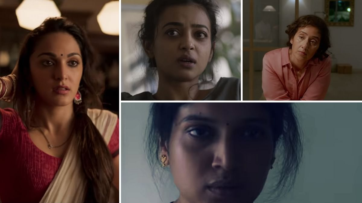 Kiara Advani, Radhika Apte, Manisha Koirala and Bhumi&nbsp; Pednekar in <i>Lust Stories</i>.&nbsp;