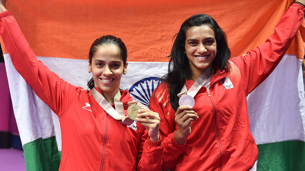 Saina Nehwal won a gold medal at the 2018 Commonwealth Games while PV Sindhu had to settle for silver.