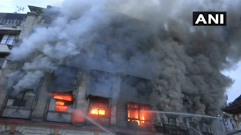 Fire breaks out inside Patel Chambers in Mumbai's Fort area.