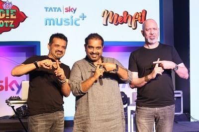 Music composers Ehsaan Noorani, Shankar Mahadevan and Loy Mendonsa. (Photo: IANS)