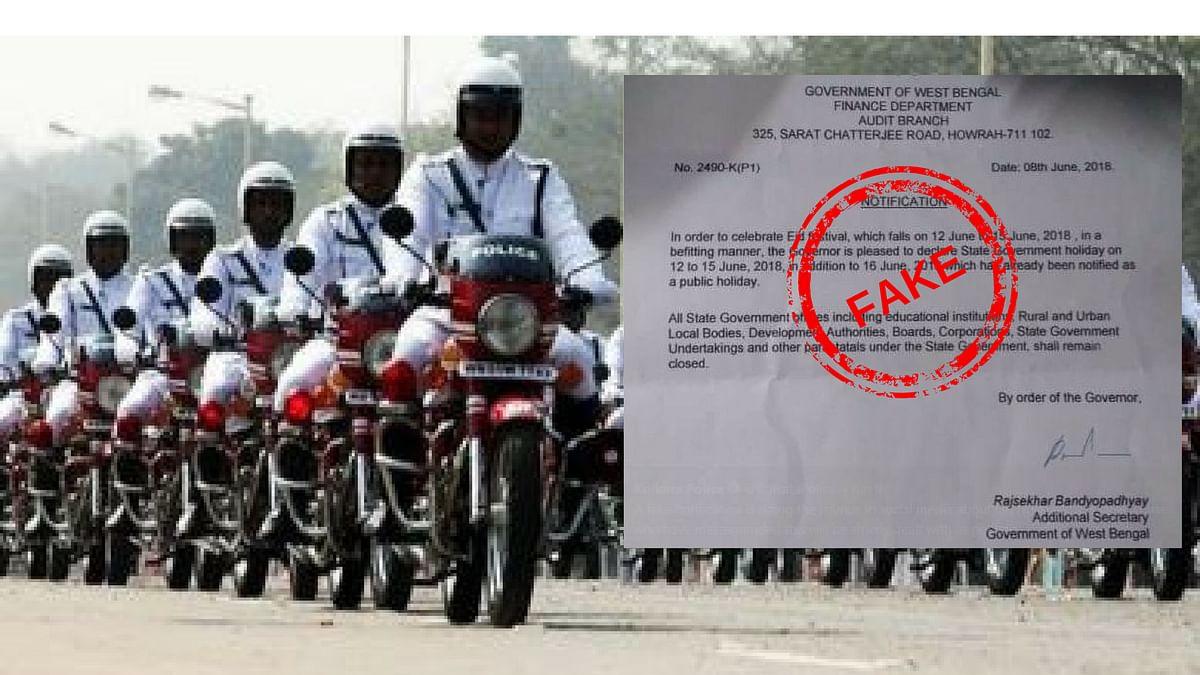 Kolkata Cops Bust Fake 'Eid Holidays' Notification, Begin Probe