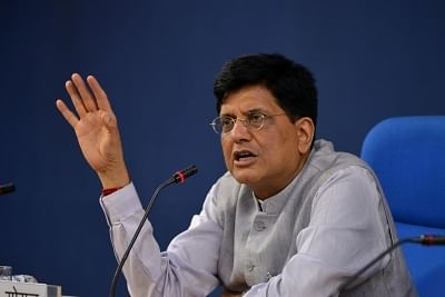 New Delhi: Union Finance and Corporate Affairs Minister Piyush Goyal addresses a press conference after chairing a cabinet meeting in New Delhi, on June 27, 2018. (Photo: IANS)
