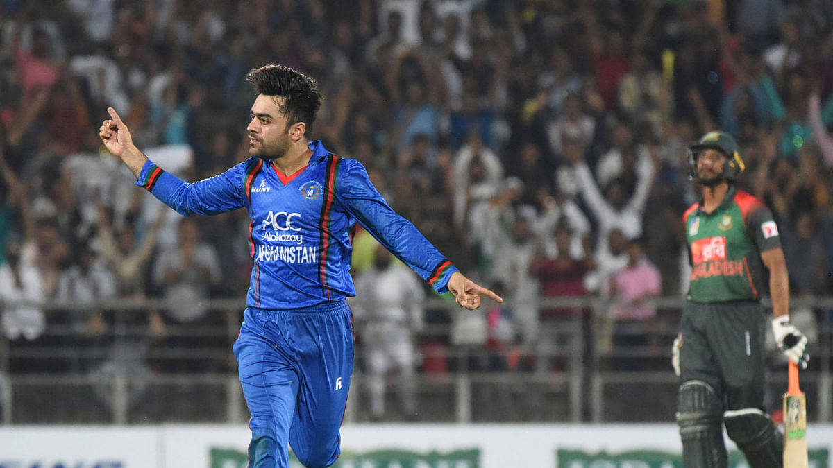 Rashid Khan ended with figures of three for 13 in three overs.