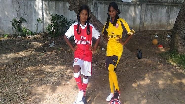 Anbarasi and her teammate Chamundeswari got featured in a video on  Arsenal's official Facebook page.