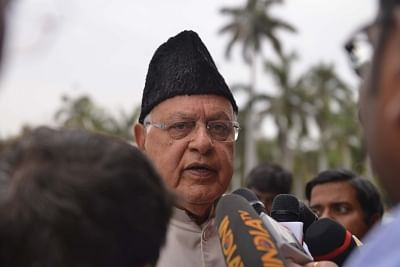 Jammu and Kashmir National Conference (JKNC) MP Farooq Abdullah.