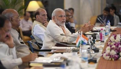 New Delhi: Prime Minister Narendra Modi addresses at the opening session of the 49th Governors' Conference at Rashtrapati Bhavan, in New Delhi on June 4, 2018. (Photo: IANS/PIB)