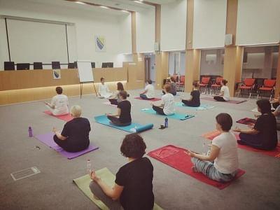 International Yoga Day celebrated in Hungary and Bosna & Herzegovina