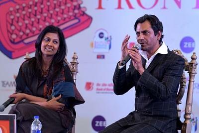 Actors Nawazuddin Siddiqui and Nandita Das. (Photo: Ravi Shankar Vyas/IANS)