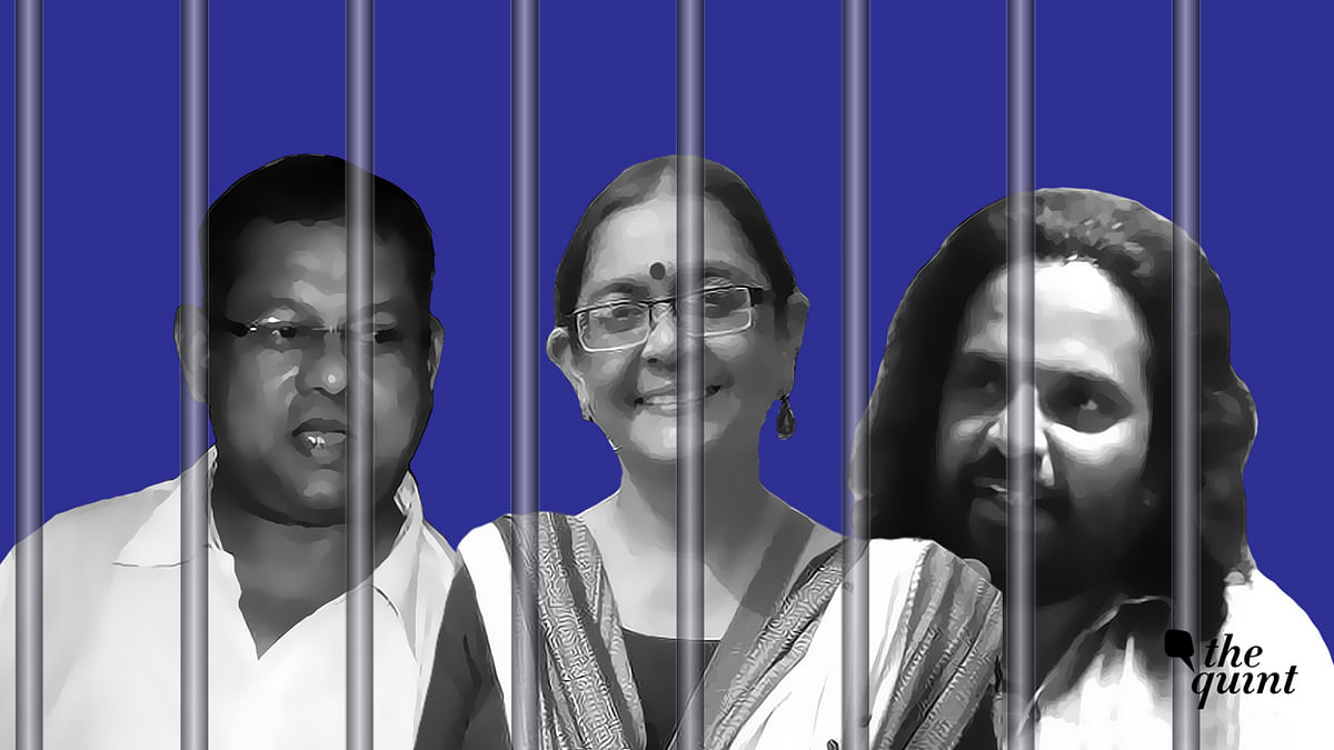 (L-R) Surendra Gadling, Shoma Sen and Rona Wilson