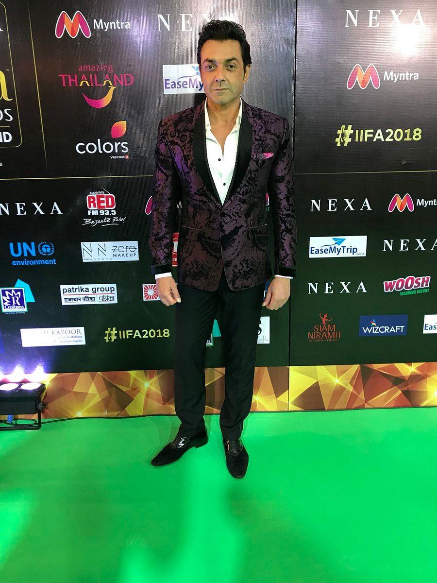 Bobby Deol on IIFA 2018 green carpet in Bangkok
