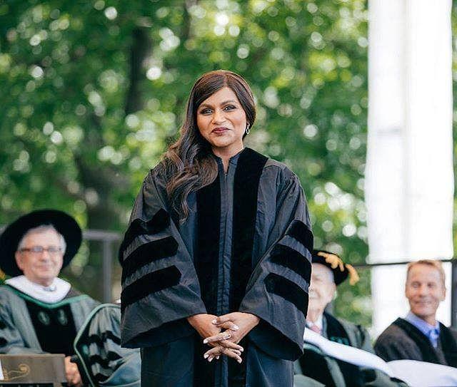 Mindy Kaling at Dartmouth College.