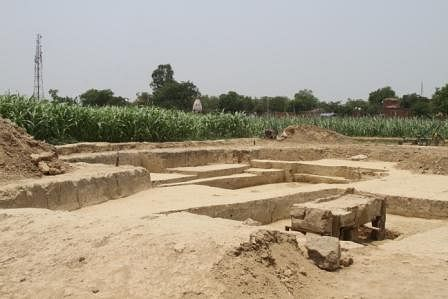 An ancient burial site about 70 km from Delhi