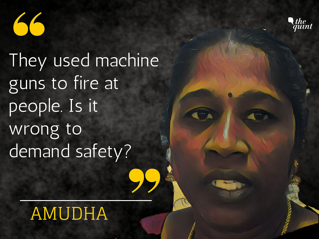 Amutha, who lives just a few kilometres away from the Sterlite plant, has had major uterus issues because of the pollution.