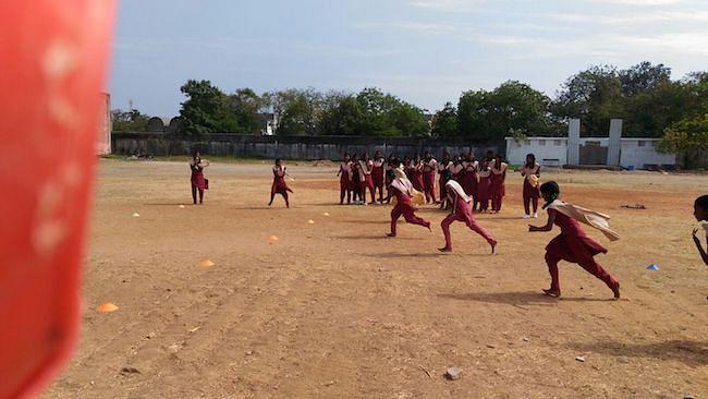 Chamundeswari and Anbarasi's school grounds