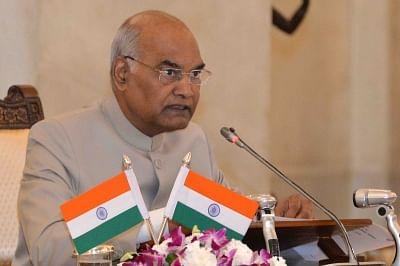 New Delhi: President Ram Nath Kovind addresses during the Conference of Governors at Rashtrapati Bhavan in New Delhi on June 4, 2018. (Photo: IANS/RB)