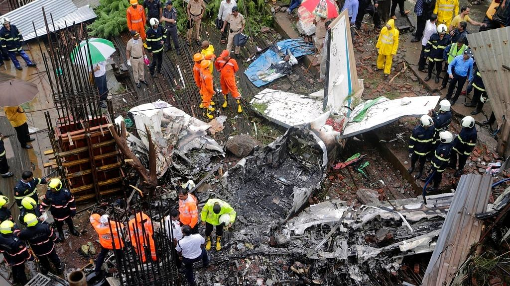 5 people were killed in Ghatkopar where a chartered plane crashed on Thursday, 28 June, killing four people on board and one pedestrian.