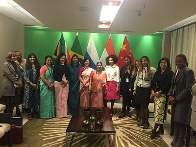 Pretoria: External Affairs Minister Sushma Swaraj with South Africa