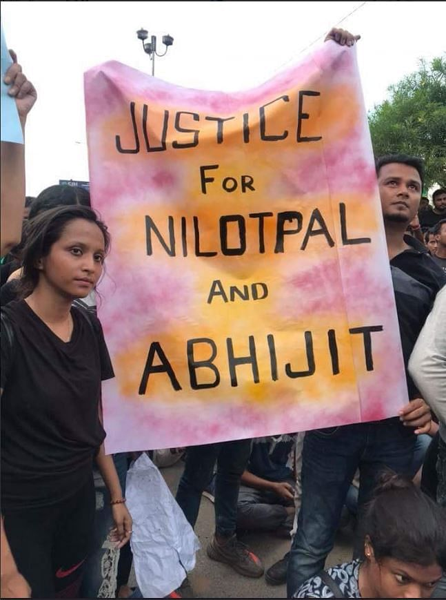Students and civil rights activists protested in Guwahati on Sunday.
