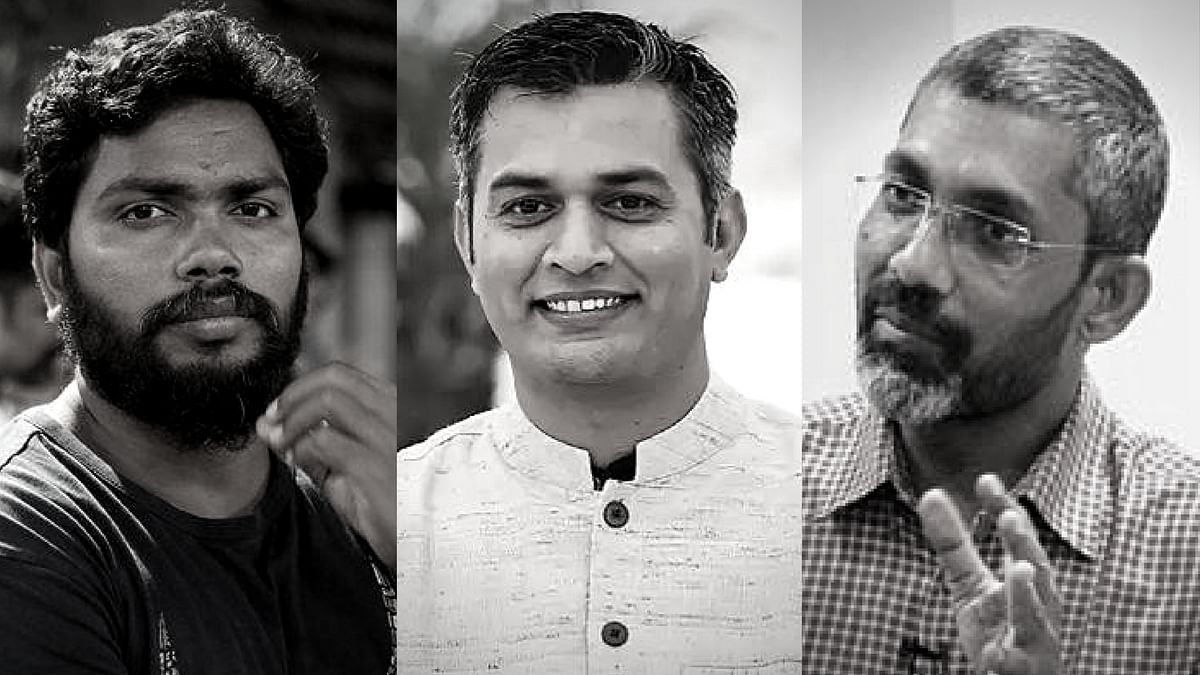 (From left) Kaala's Pa. Ranjith, Masaan's Neeraj Ghaywan and Sairat's Nagraj Manjule.