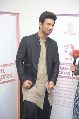 New Delhi: Actor Sushant Singh Rajput during a programme organised to promote the Women Entreprenuership Platform (WEP) of NITI Aayog in New Delhi on May 25, 2018. (Photo: IANS)