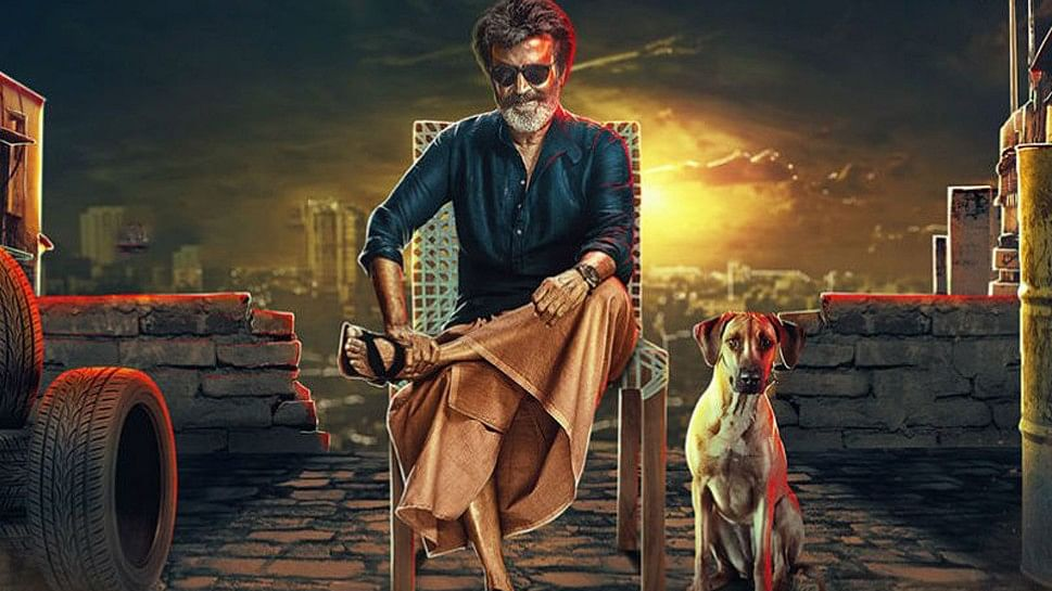 Rajnikanth with his on-screen pet dog Mani in upcoming gangster flick, Kaala.