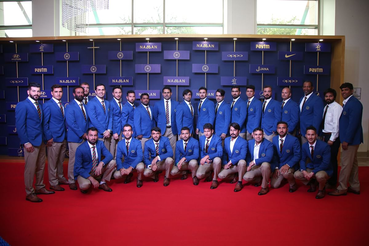 Afghanistan team attend the BCCI awards in Bangalore.