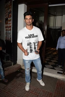 "Mumbai: Actor Sushant Singh Rajput at the wrap up party of upcoming film ""Stree"" in Mumbai on May 16, 2018. (Photo: IANS)"
