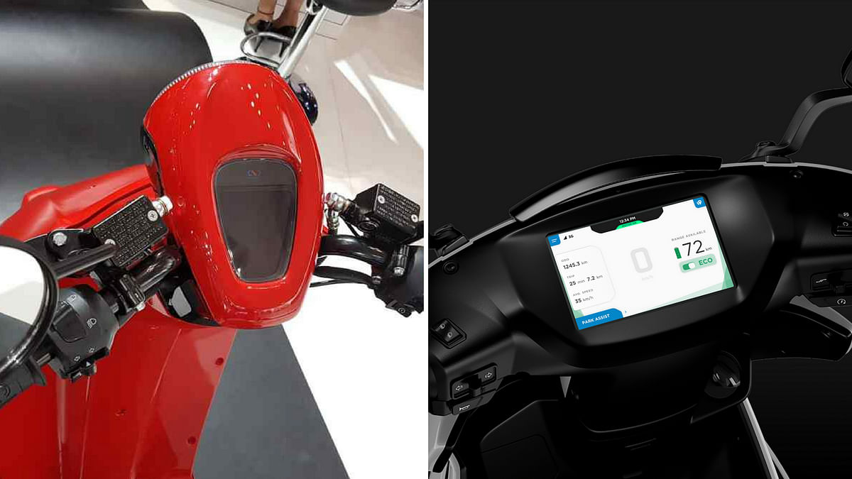 Dashboard on the Flow (left) and Ather 340 (right).
