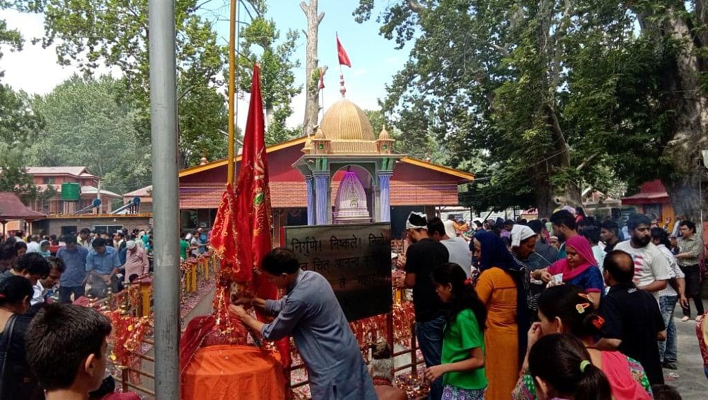Devotees pay obeisance to Goddess Rangya Devi.