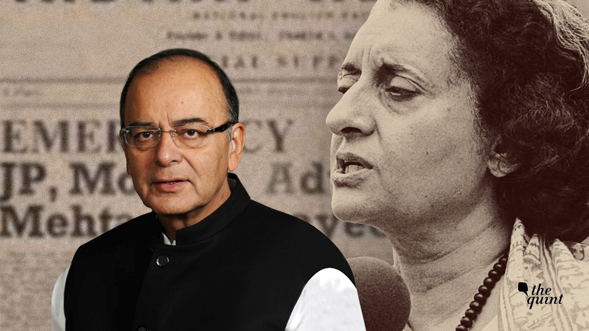 In the first of his three part series, Arun Jaitley chronicled the events leading up to the 1975 Emergency.