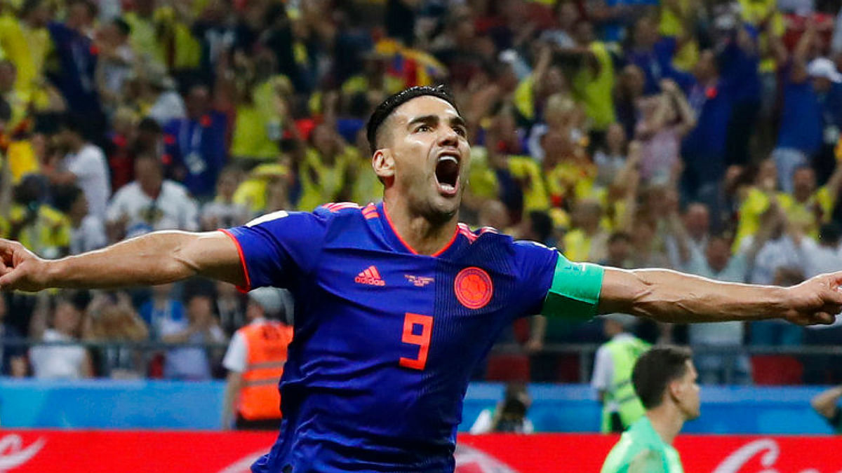 Watch: Falcao's Fancy Outside-of-the-Foot Finish Against Poland