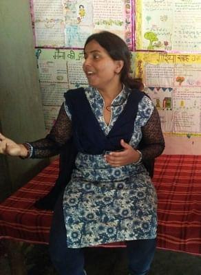 Seema Yadav has been teaching at Udaan school for the last 18 years.