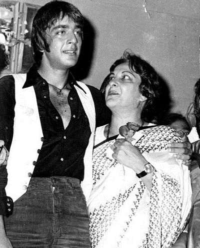 Sanjay Dutt with his mother, Nargis.