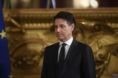 Giuseppe Conte. (Xinhua/Alberto Lingria/IANS)
