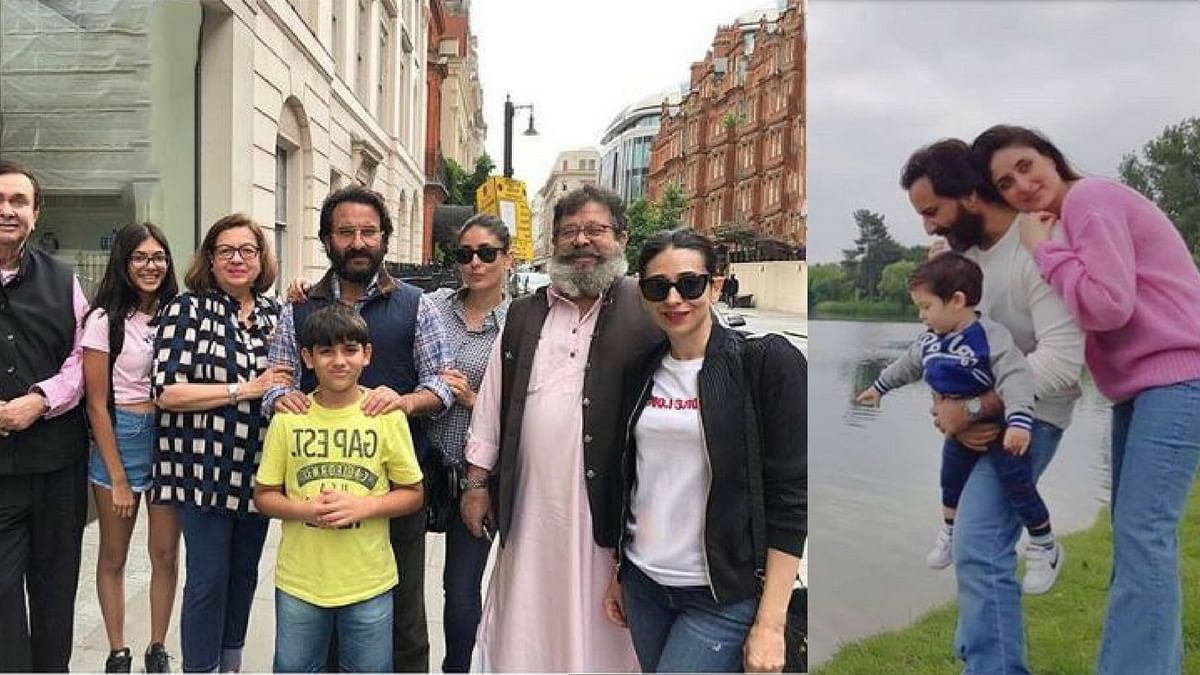 The Kapoor family holidaying in London.