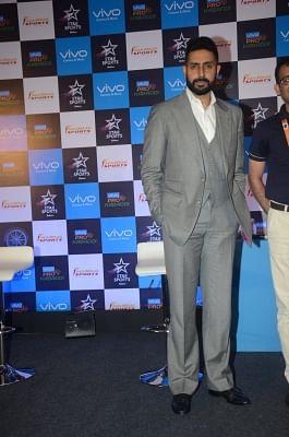 Mumbai: Actor Abhishek Bachchan during a Pro Kabaddi League press conference, in Mumbai on May 30, 2018. (Photo: IANS)