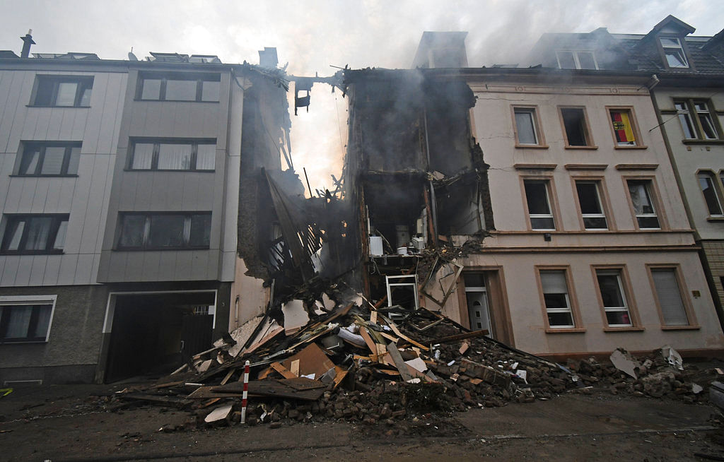 The apartmet building was destroyed after an explosion in Wuppertal, Germany.