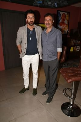 Actor Ranbir Kapoor and director Rajkumar Hirani. (Photo: IANS)