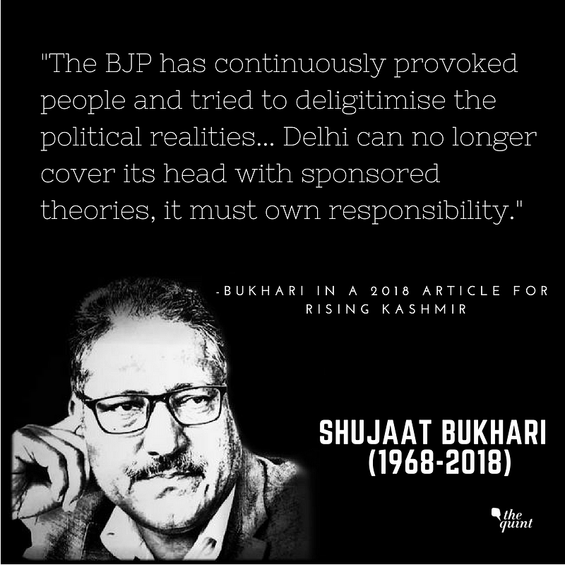 Shujaat Bukhari – A Formidable Voice for Freedom, Peace & Justice