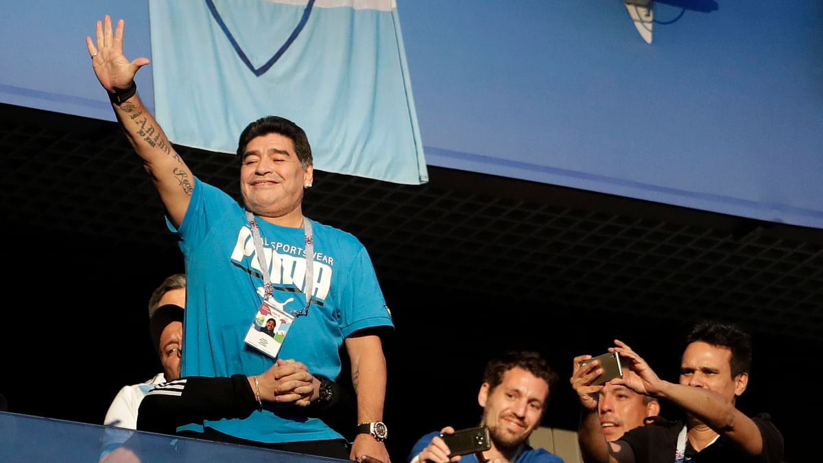 Diego Maradona is Argentina's Biggest Fan, and Distraction
