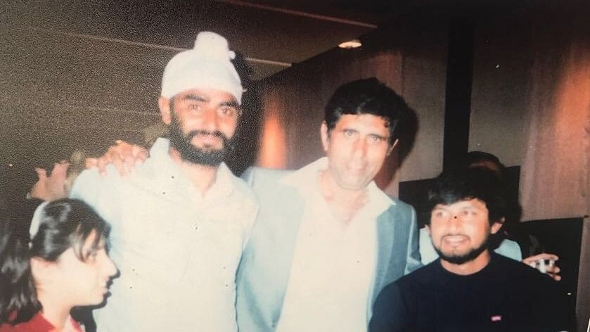 Sandeep Patil (right) celebrating after India's 1983 World Cup win.