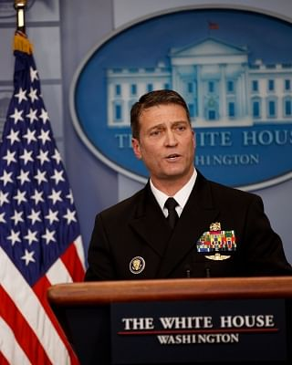 White House physician, Navy doctor Ronny Jackson. (Xinhua/Ting Shen/IANS)