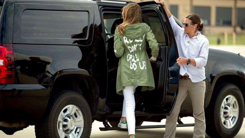 'Really Don't Care': Melania's Jacket on Visit to Migrant Kids