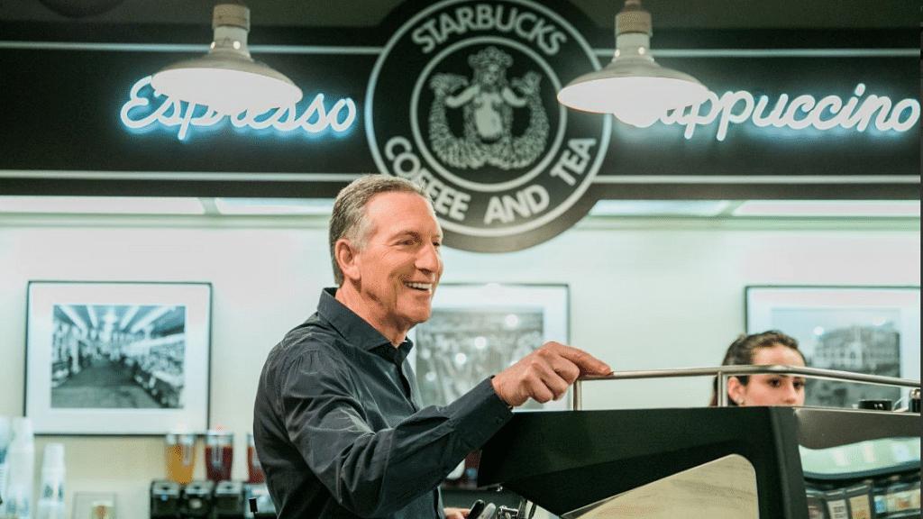 Howard Schultz to step down as Starbucks CEO.