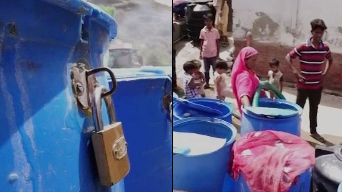 Ajmer Water Crisis Forces Residents to Lock Their Water Barrels