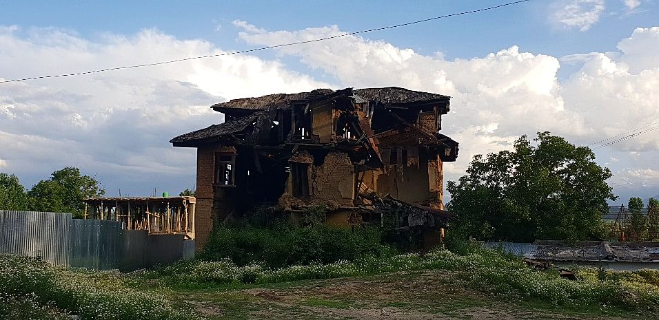 Dilapidated house of a Pandit (a common sight).