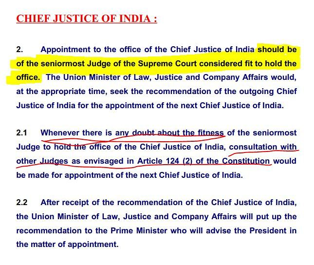 How is the Chief Justice of India Appointed?