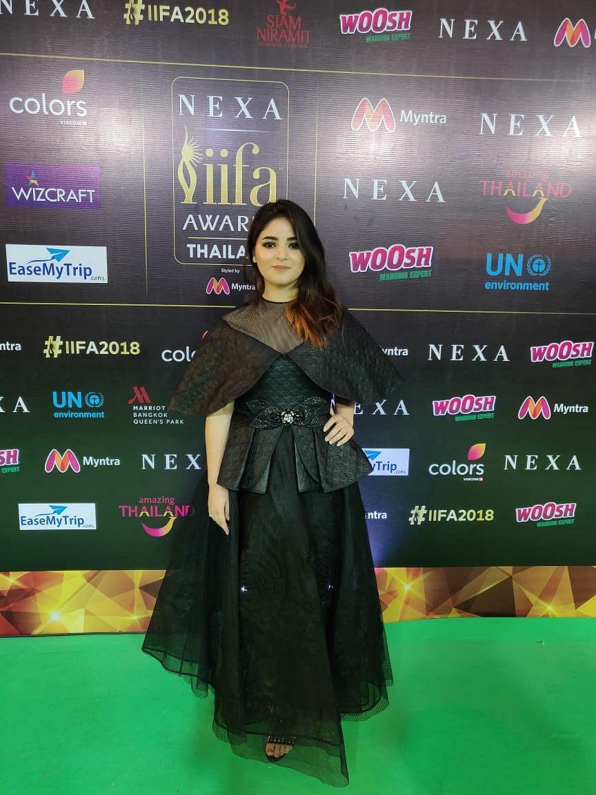 Zaira Wasim on IIFA 2018 green carpet in Bangkok