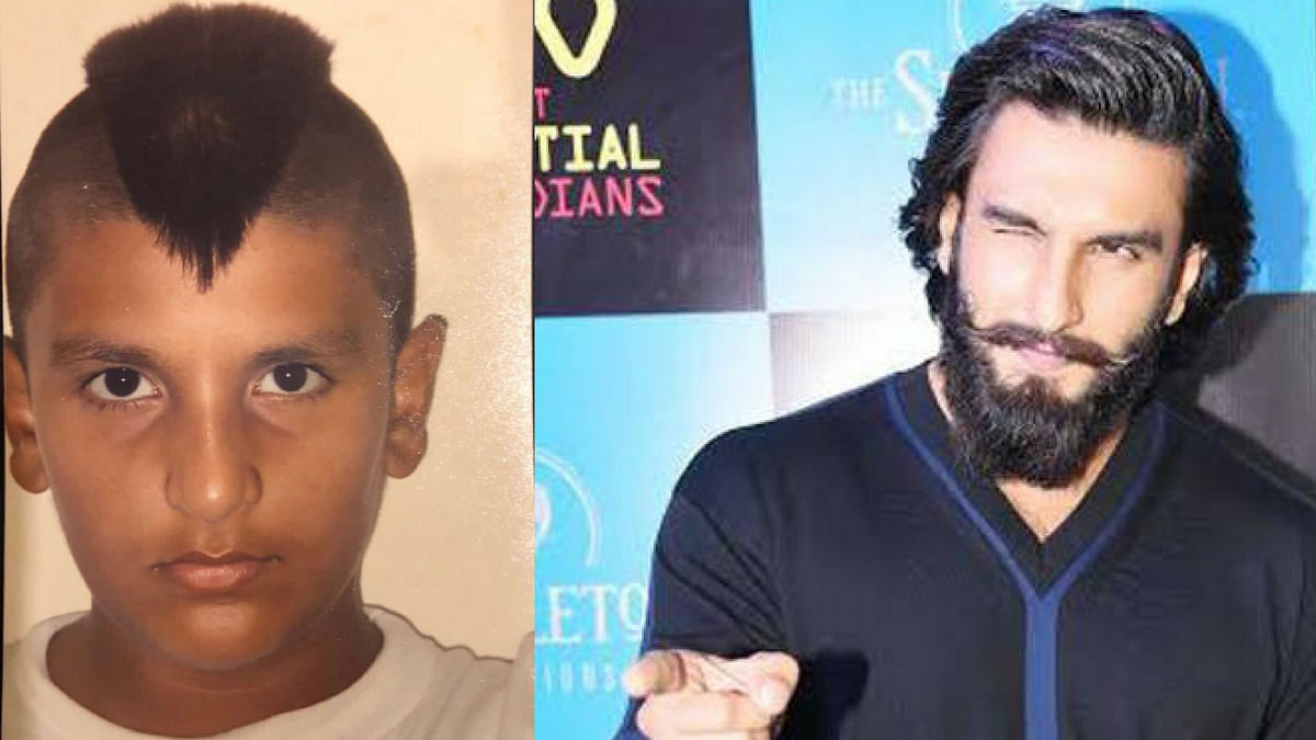 Raveer Singh back in the day and today!