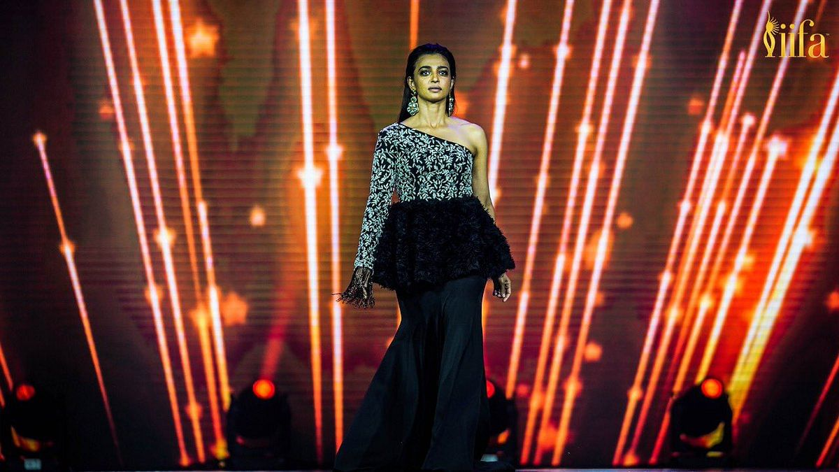 Radhika Apte is a vision in black and silver.